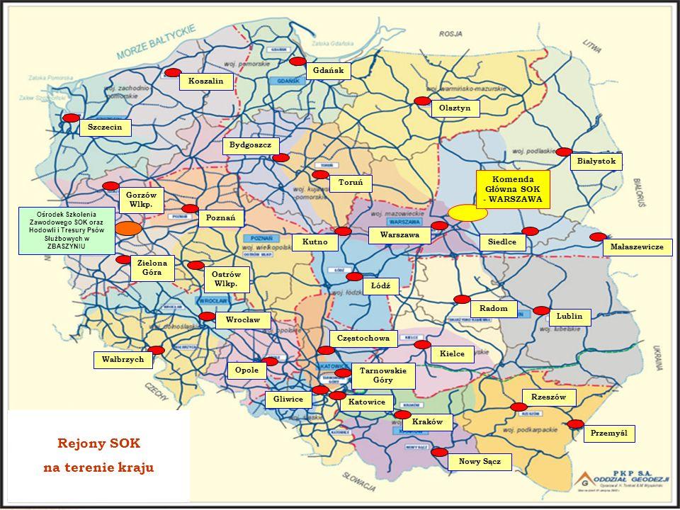 www.plk-sa.pl W strukturze organizacyjnej Komendy Głównej Straży Ochrony Kolei znajduje się jedyny funkcjonujący od roku 1945 do dziś OŚRODEK SZKOLENIA ZAWODOWEGO SOK ORAZ HODOWLI I TRESURY PSÓW SŁUŻBOWYCH w Z B Ą S Z Y N I U OŚRODEK SZKOLENIA ZAWODOWEGO SOK ORAZHODOWLI I TRESURY PSÓW SŁUŻBOWYCH