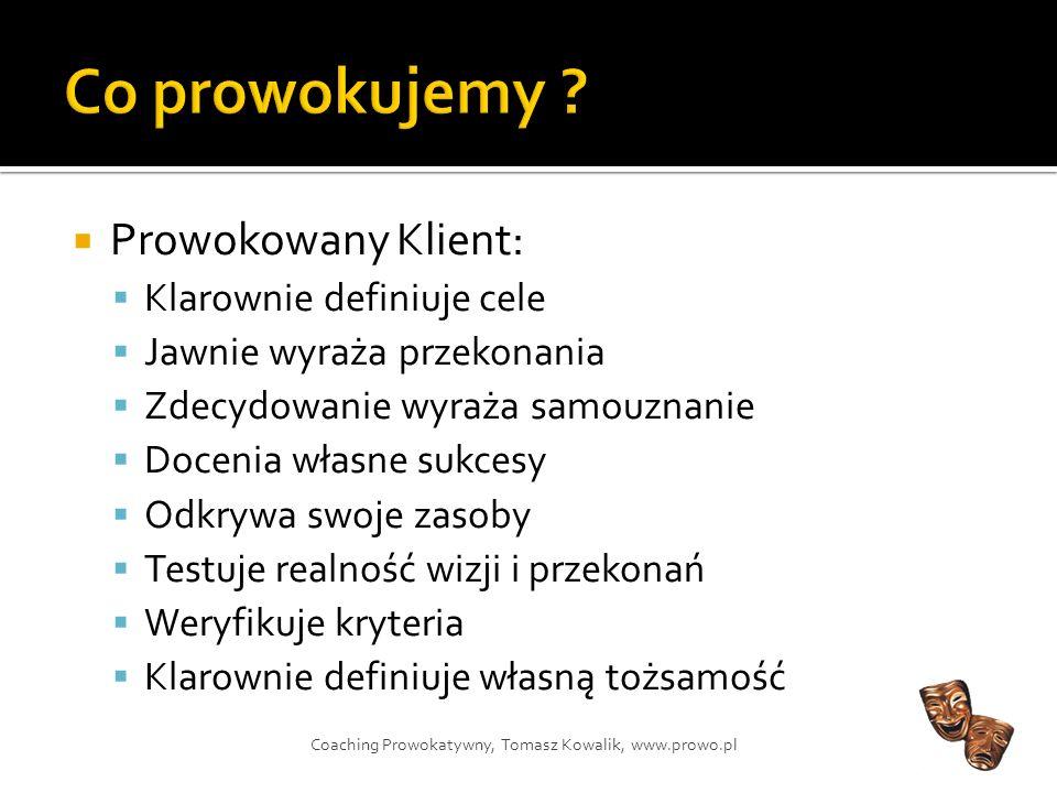 Źródło: Coaching Prowokatywny, Jaap Hollander, Jeffrey Wijnberg