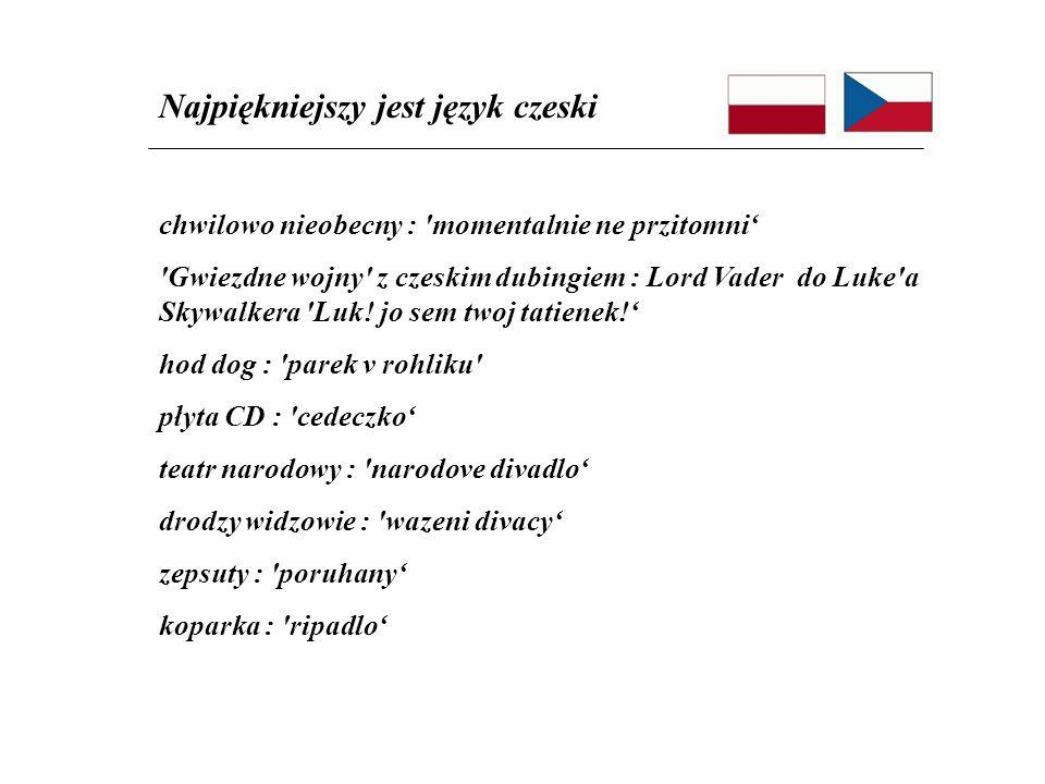 chwilowo nieobecny : 'momentalnie ne przitomni 'Gwiezdne wojny' z czeskim dubingiem : Lord Vader do Luke'a Skywalkera 'Luk! jo sem twoj tatienek! hod