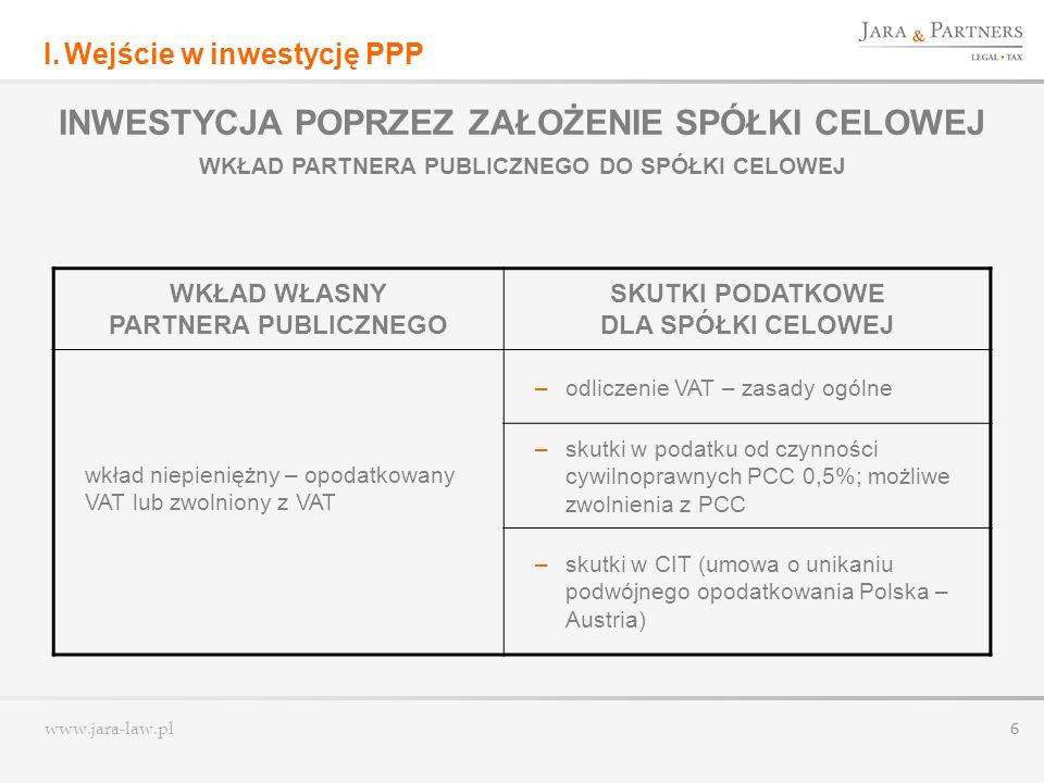 www.jara-law.pl 7 II.Działalność przedsięwzięcia PPP III.