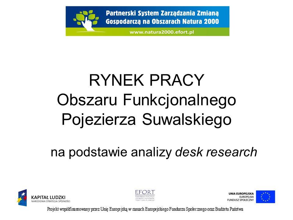 RYNEK PRACY Obszaru Funkcjonalnego Pojezierza Suwalskiego na podstawie analizy desk research