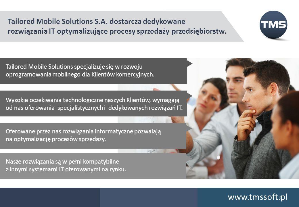 Tailored Mobile Solutions S.A. dostarcza dedykowane rozwiązania IT optymalizujące procesy sprzedaży przedsiębiorstw. Tailored Mobile Solutions specjal