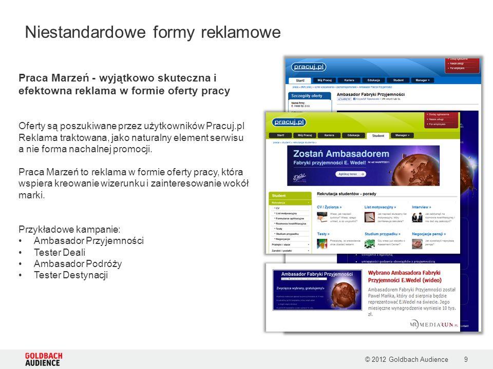 Przykładowe kampanie: Kadra Zarządzająca, IT, MSP © 2012 Goldbach Audience10