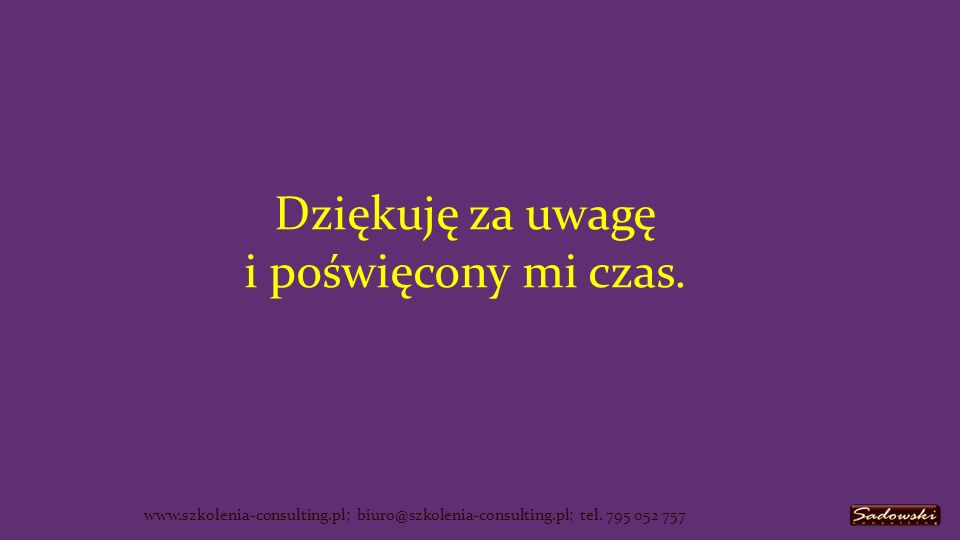 www.szkolenia-consulting.pl; biuro@szkolenia-consulting.pl; tel.