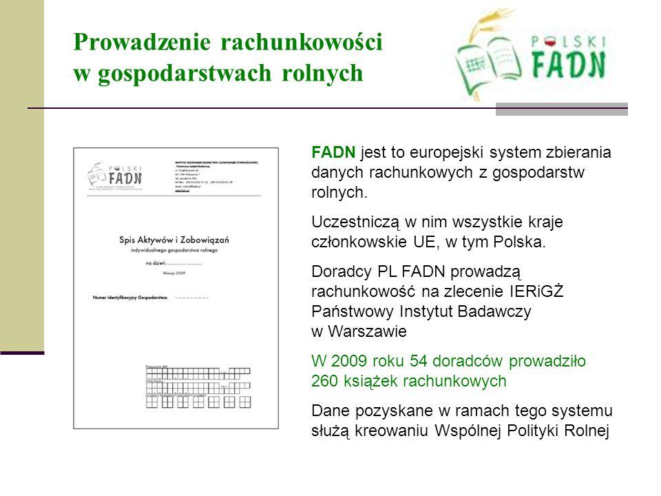 Prowadzenie rachunkowości w gospodarstwach rolnych FADN jest to europejski system zbierania danych rachunkowych z gospodarstw rolnych. Uczestniczą w n