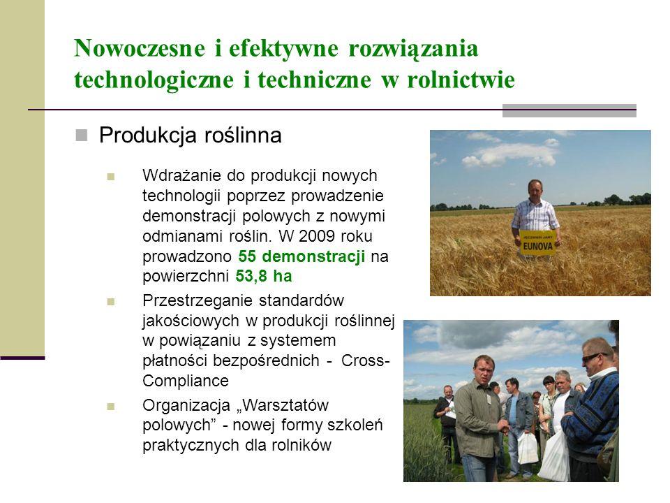 Nowoczesne i efektywne rozwiązania technologiczne i techniczne w rolnictwie Produkcja roślinna Wdrażanie do produkcji nowych technologii poprzez prowa