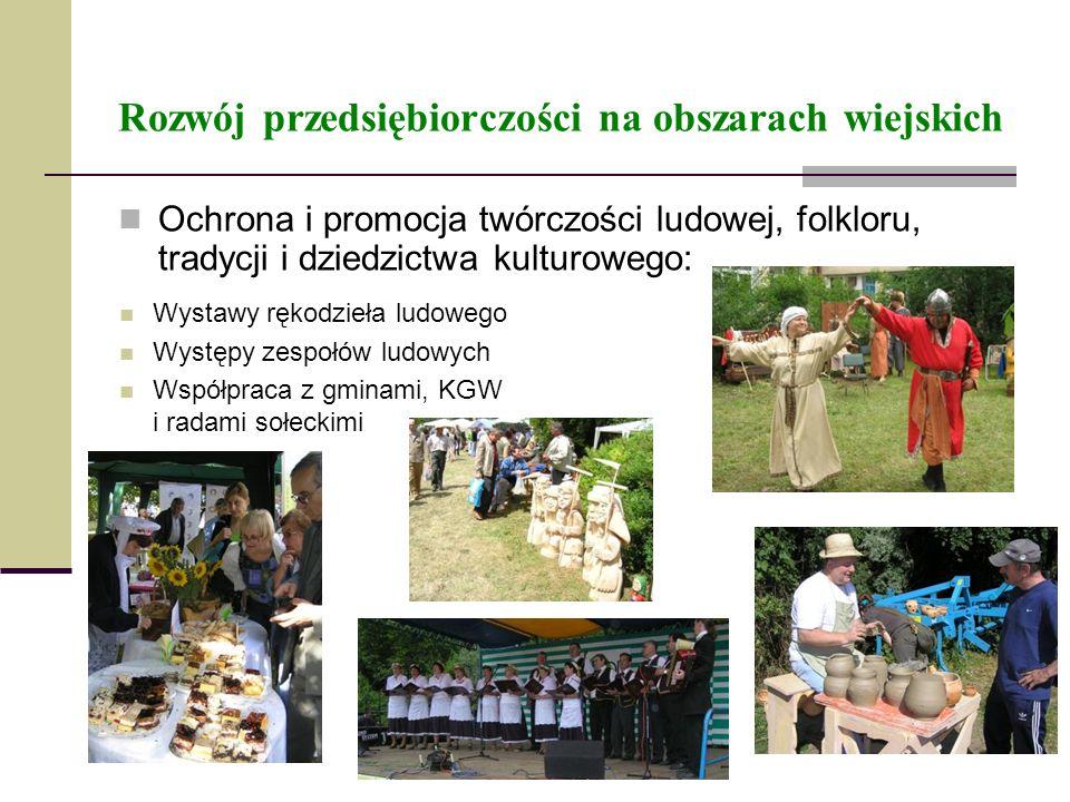 Rozwój przedsiębiorczości na obszarach wiejskich Ochrona i promocja twórczości ludowej, folkloru, tradycji i dziedzictwa kulturowego: Wystawy rękodzie