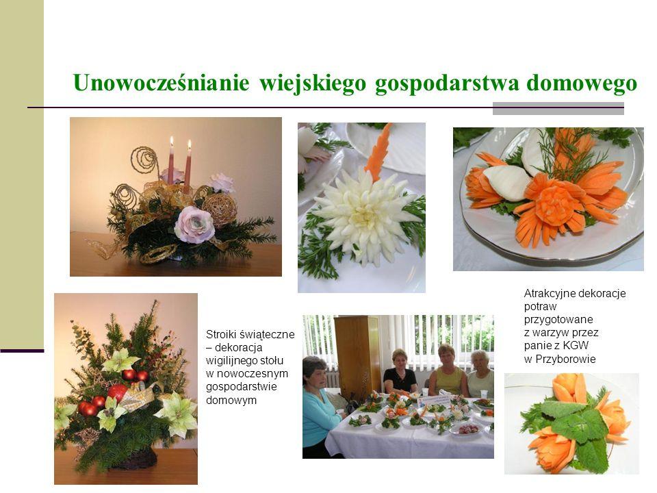 Unowocześnianie wiejskiego gospodarstwa domowego Stroiki świąteczne – dekoracja wigilijnego stołu w nowoczesnym gospodarstwie domowym Atrakcyjne dekor