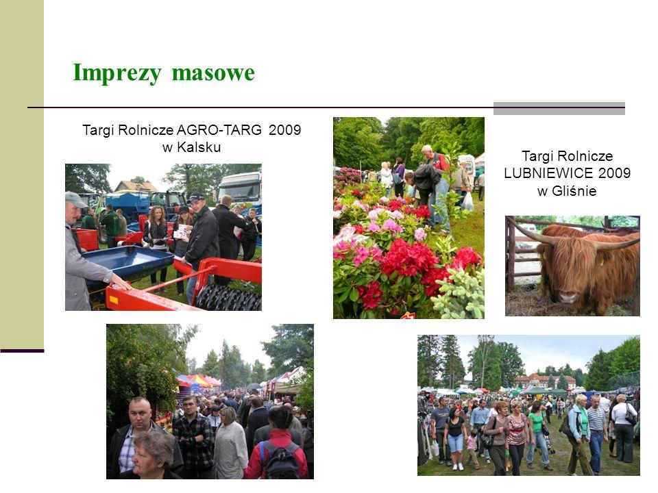 Imprezy masowe Targi Rolnicze AGRO-TARG 2009 w Kalsku Targi Rolnicze LUBNIEWICE 2009 w Gliśnie