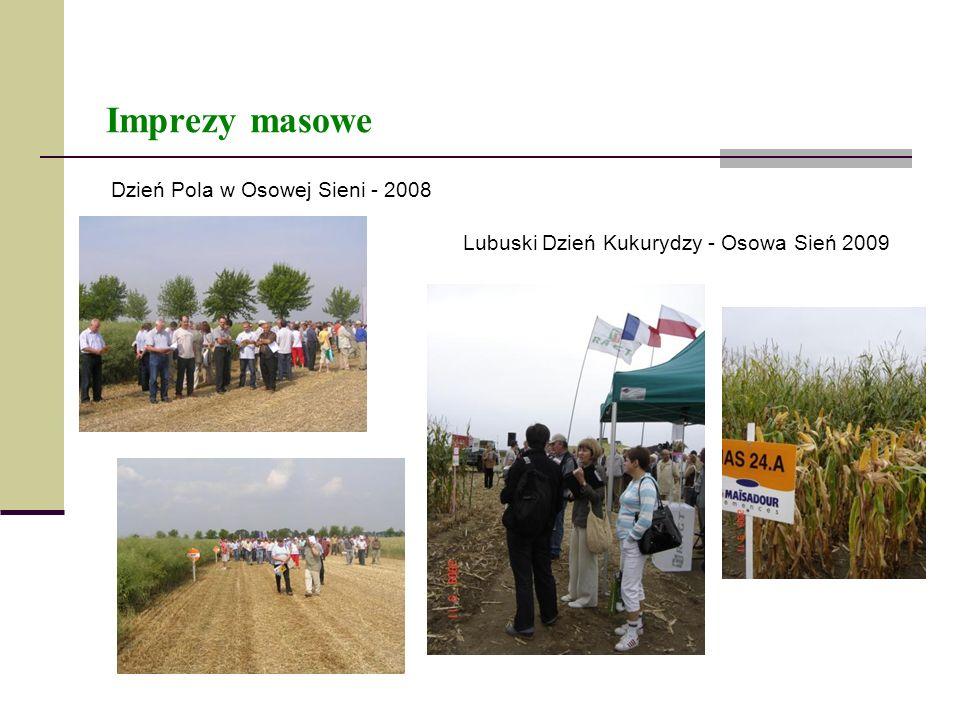 Imprezy masowe Dzień Pola w Osowej Sieni - 2008 Lubuski Dzień Kukurydzy - Osowa Sień 2009