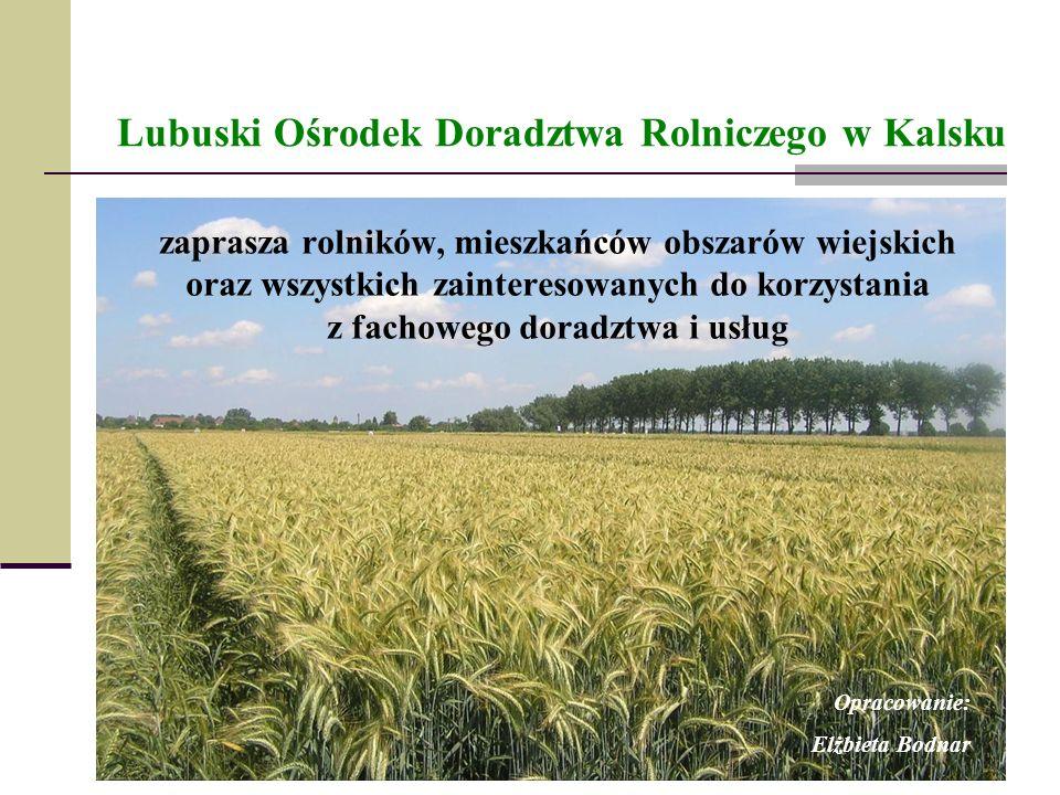 Lubuski Ośrodek Doradztwa Rolniczego w Kalsku zaprasza rolników, mieszkańców obszarów wiejskich oraz wszystkich zainteresowanych do korzystania z fach
