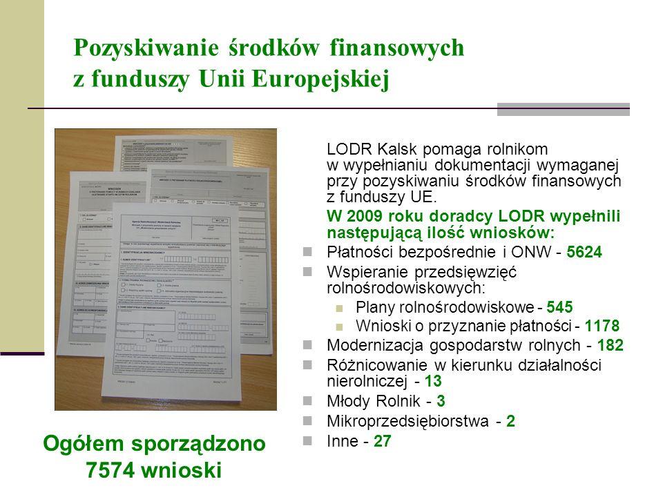 Pozyskiwanie środków finansowych z funduszy Unii Europejskiej LODR Kalsk pomaga rolnikom w wypełnianiu dokumentacji wymaganej przy pozyskiwaniu środkó