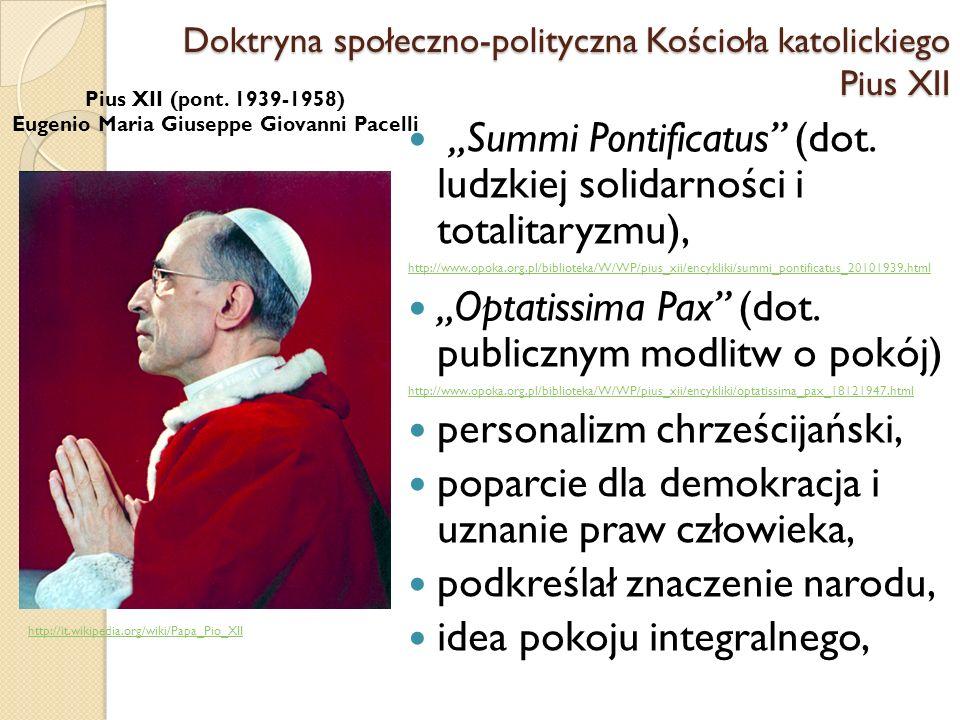Summi Pontificatus (dot.