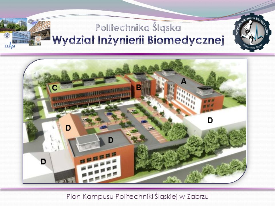 Plan Kampusu Politechniki Śląskiej w Zabrzu