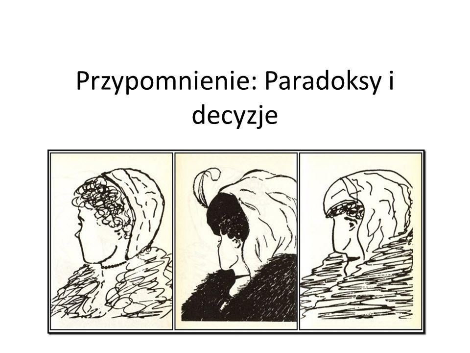Przypomnienie: Paradoksy i decyzje
