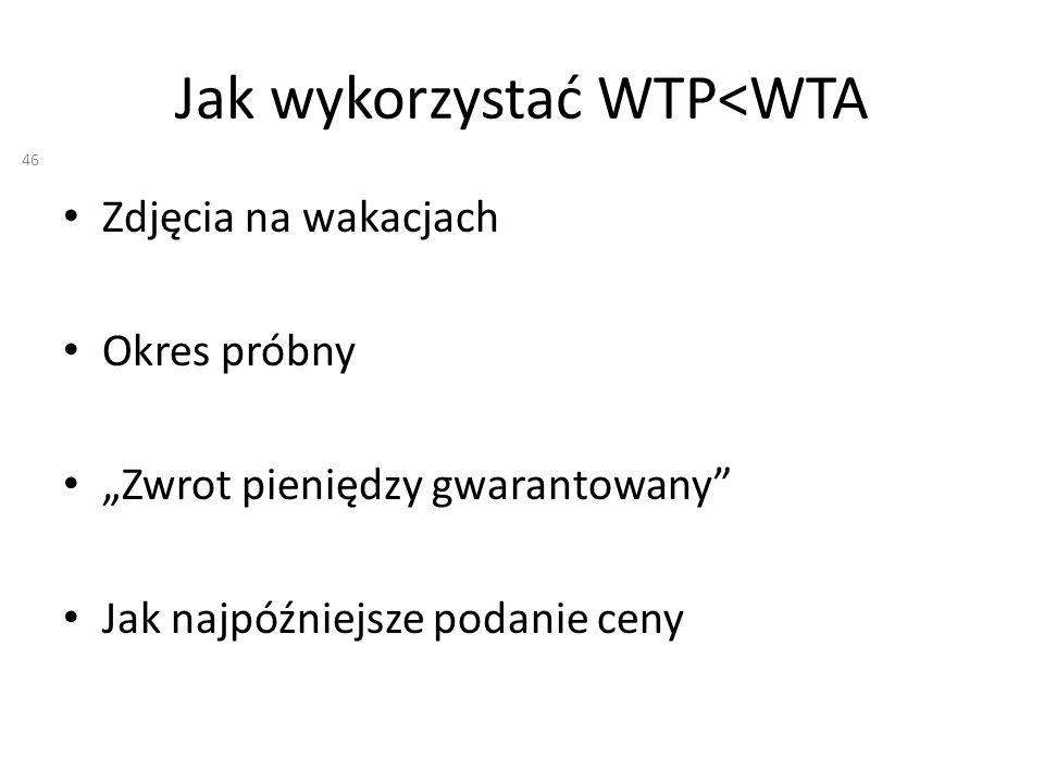 Jak wykorzystać WTP<WTA Zdjęcia na wakacjach Okres próbny Zwrot pieniędzy gwarantowany Jak najpóźniejsze podanie ceny 46