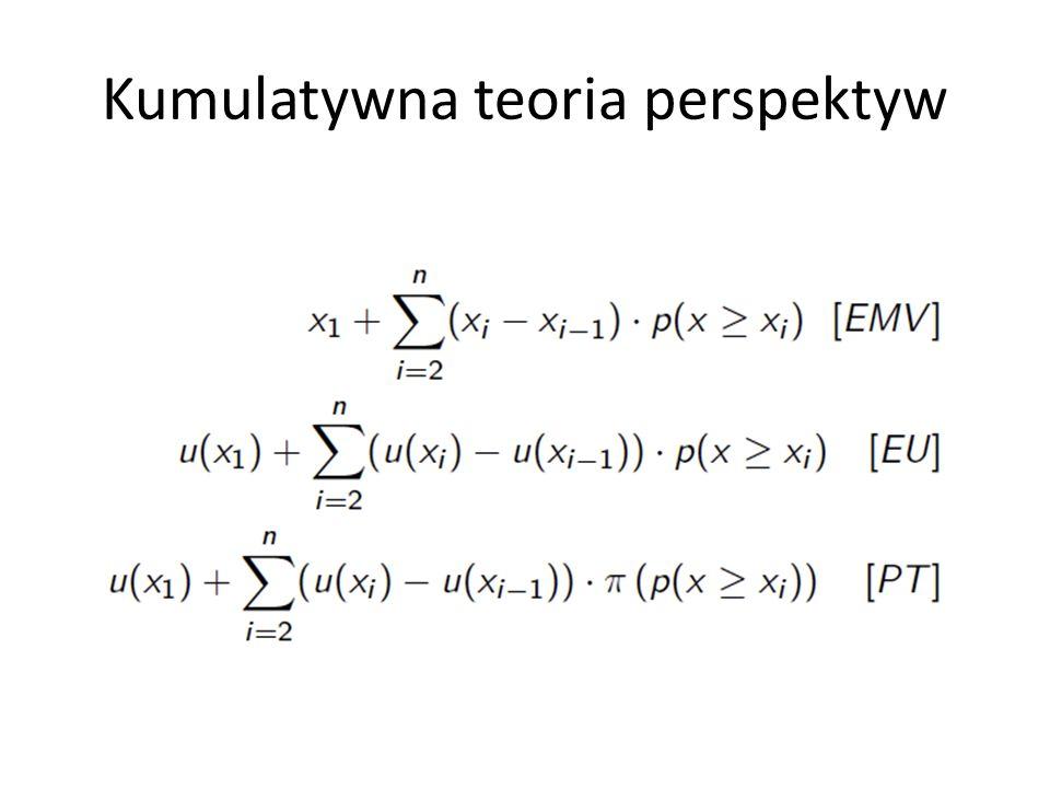 Kumulatywna teoria perspektyw