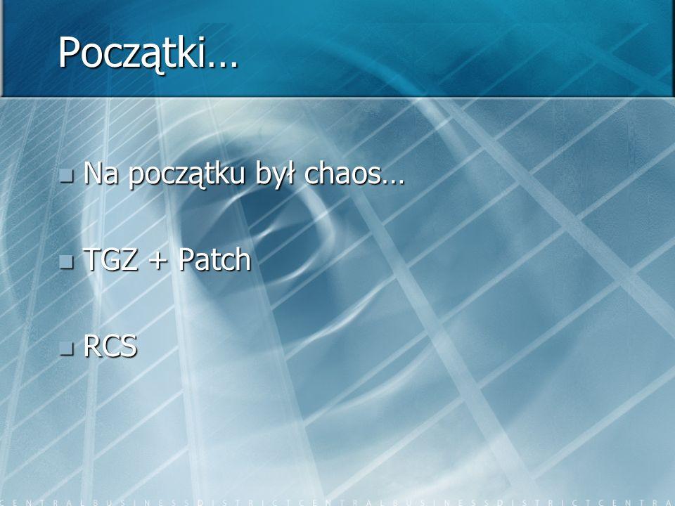 Początki… Na początku był chaos… Na początku był chaos… TGZ + Patch TGZ + Patch RCS RCS