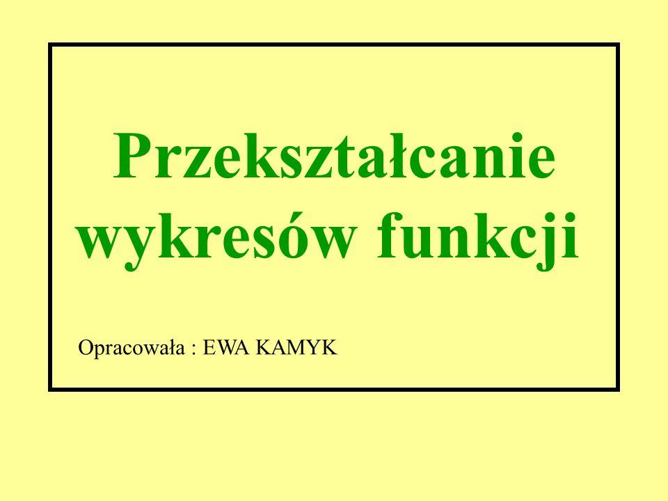 Przekształcanie wykresów funkcji Opracowała : EWA KAMYK