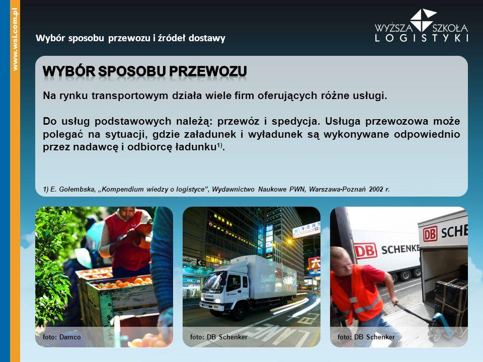 foto: DB Schenker Wybór sposobu przewozu i źródeł dostawy