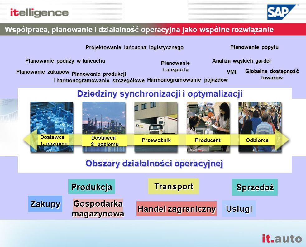 it.auto Zakupy Produkcja Gospodarkamagazynowa Sprzedaż Transport Usługi Planowanie popytu Planowanie podaży w łańcuchu Planowanie produkcji i harmonog