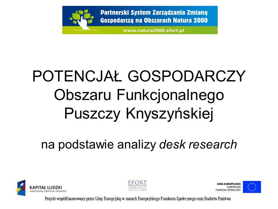 POTENCJAŁ GOSPODARCZY Obszaru Funkcjonalnego Puszczy Knyszyńskiej na podstawie analizy desk research