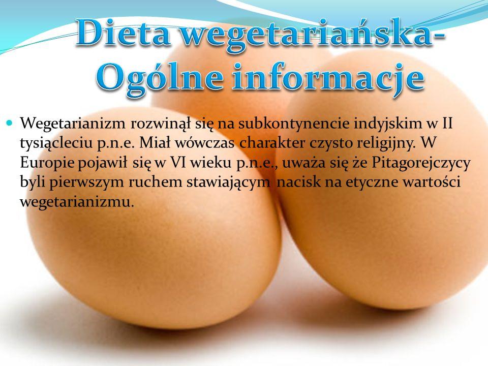 Wyróżnia się kilka odmian wegetarianizmu, najbardziej popularne to: Laktoowowegetarianizm –polega na rezygnacji z większości potraw mięsnych, dopuszczone są natomiast produkty pochodzenia zwierzęcego.