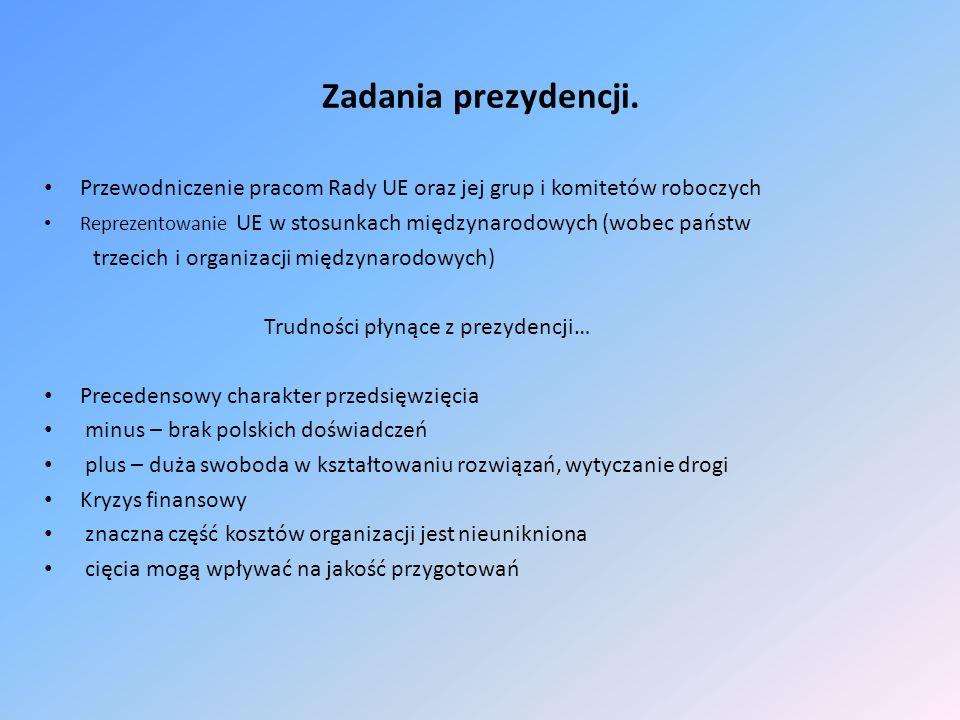 Korzyści z polskiego przewodnictwa w Unii… Prezydencja daje szansę przedstawienia polskich priorytetów na forum europejskim i światowym.