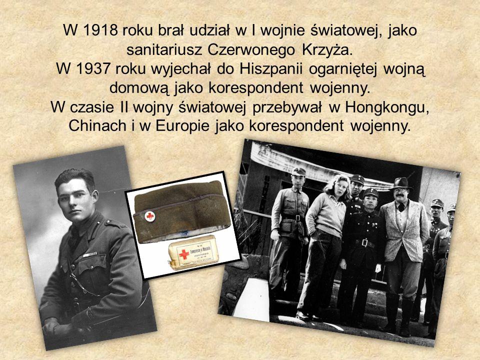 W 1918 roku brał udział w I wojnie światowej, jako sanitariusz Czerwonego Krzyża.