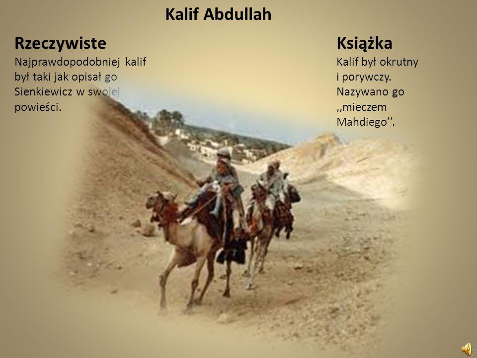 Porównanie Mahdiego z książki z rzeczywistym Mahdim. Rzeczywiście Abd Allah al-Mahdi, al-Mahdi (ur. 12 sierpnia 1844, zm. 22 czerwca 1885) – przywódca