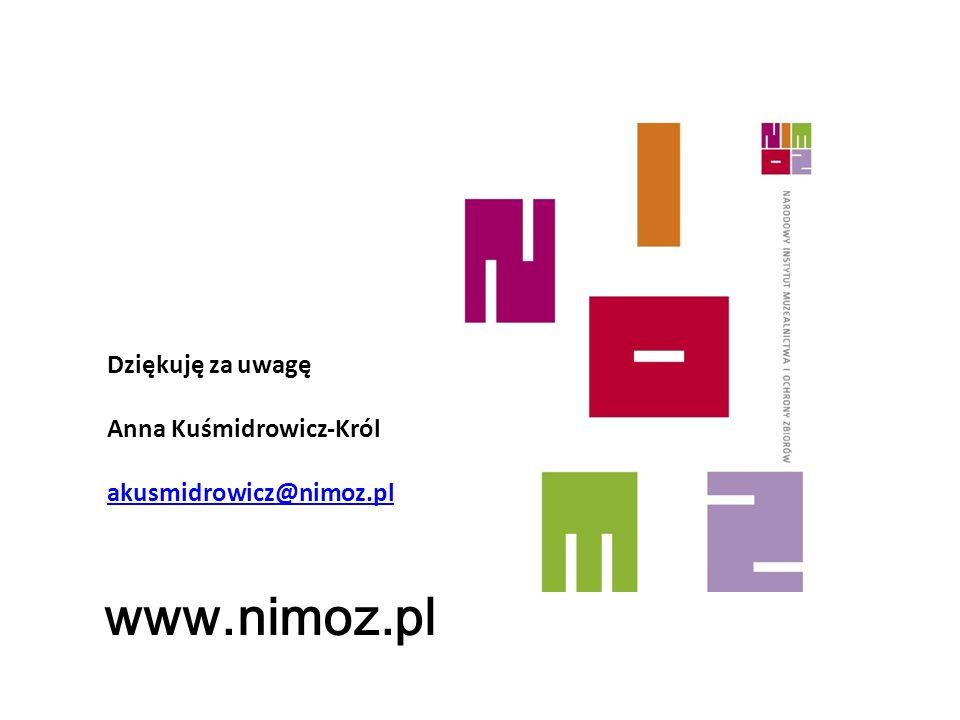 www.nimoz.pl Dziękuję za uwagę Anna Kuśmidrowicz-Król akusmidrowicz@nimoz.pl