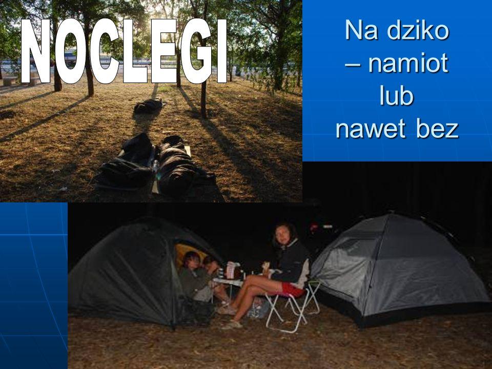 Na dziko – namiot lub nawet bez