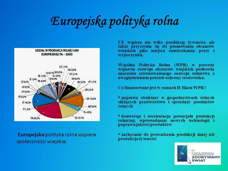Europejska polityka rolna UE wspiera nie tylko produkcję żywności, ale także przyczynia się do promowania obszarów wiejskich jako miejsca zamieszkania