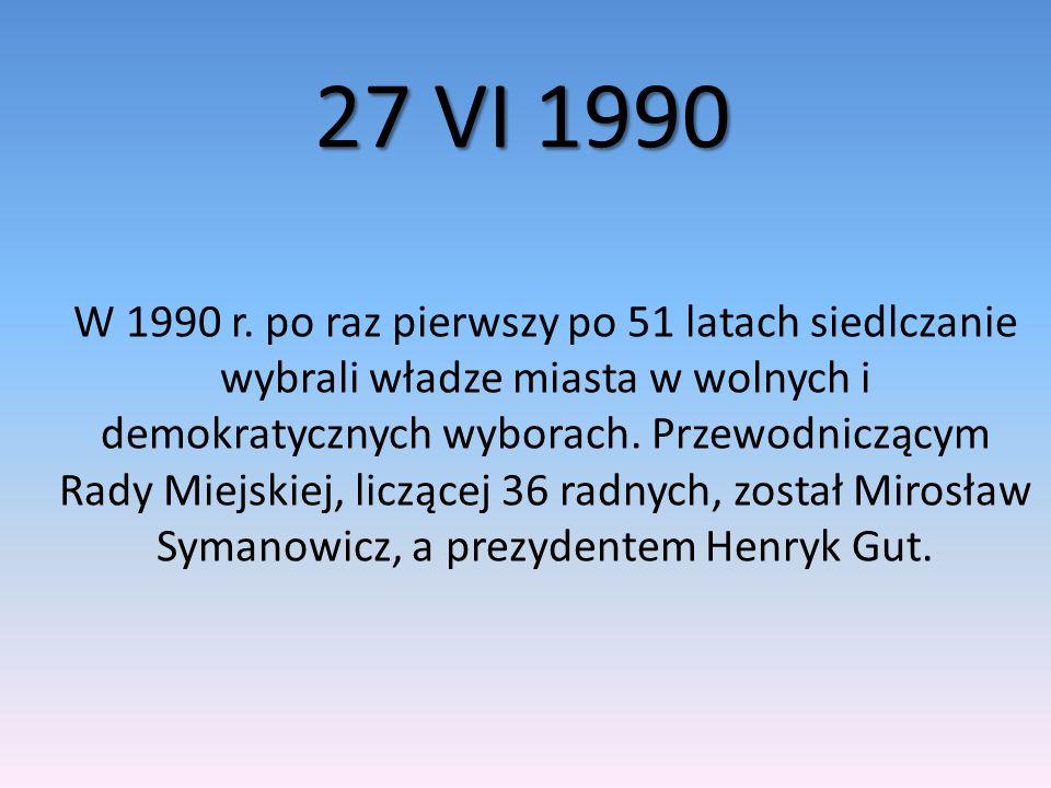 19 VI 1994r.Wybory samorządowe II kadencji Rady Miasta Siedlce wyłoniły 36 radnych.