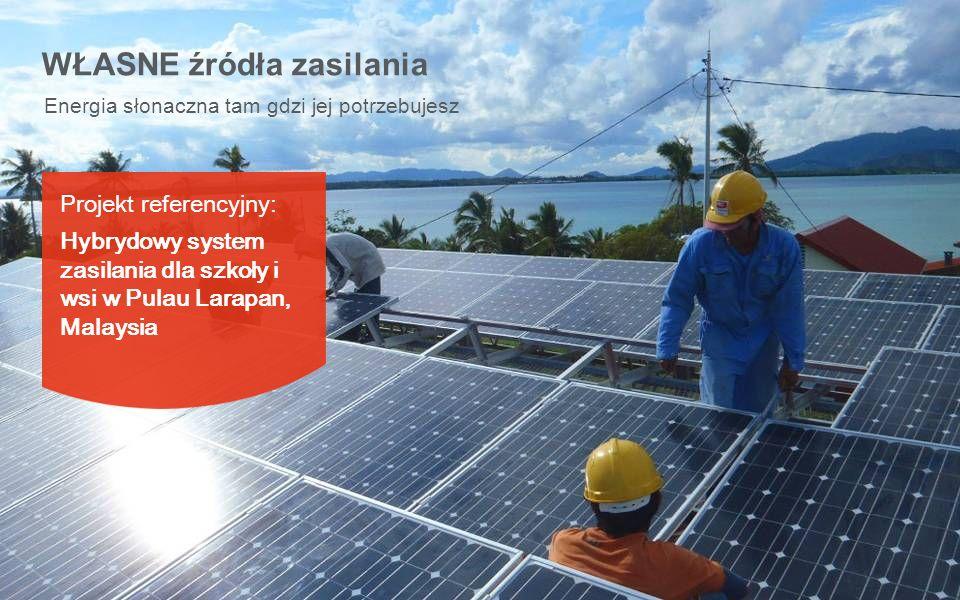 Energia słonaczna tam gdzi jej potrzebujesz WŁASNE źródła zasilania Projekt referencyjny: Hybrydowy system zasilania dla szkoły i wsi w Pulau Larapan,