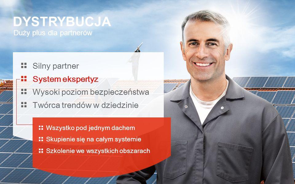 Duży plus dla partnerów DYSTRYBUCJA Silny partner System ekspertyz Wysoki poziom bezpieczeństwa Twórca trendów w dziedzinie Wszystko pod jednym dachem