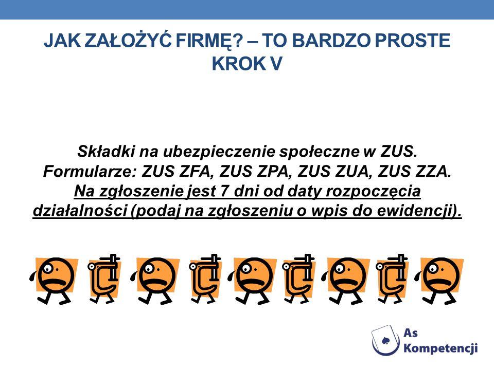 Składki na ubezpieczenie społeczne w ZUS. Formularze: ZUS ZFA, ZUS ZPA, ZUS ZUA, ZUS ZZA.