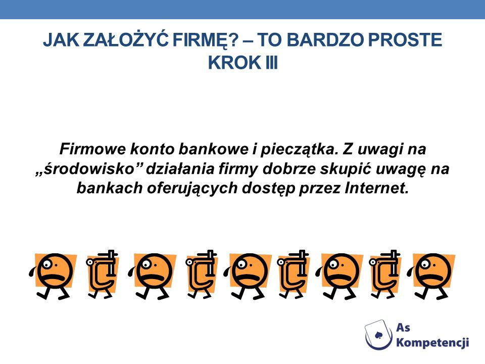 Firmowe konto bankowe i pieczątka.