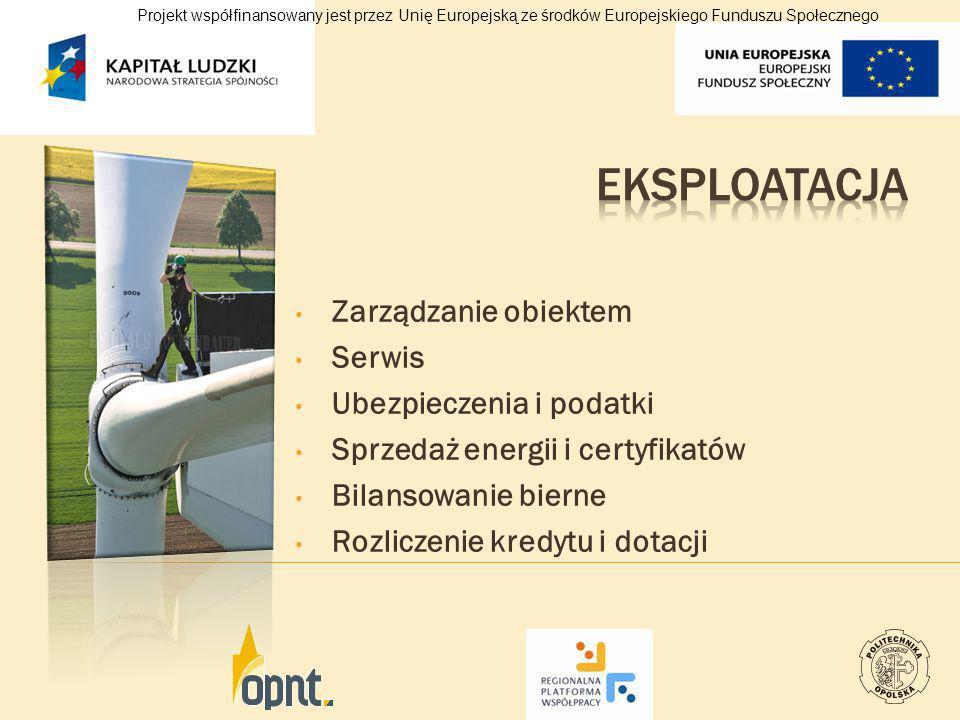 Zarządzanie obiektem Serwis Ubezpieczenia i podatki Sprzedaż energii i certyfikatów Bilansowanie bierne Rozliczenie kredytu i dotacji Projekt współfin