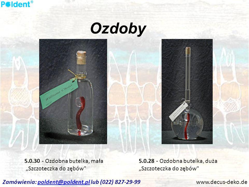 Ozdoby www.decus-deko.de 5.0.28 - Ozdobna butelka, duża Szczoteczka do zębów