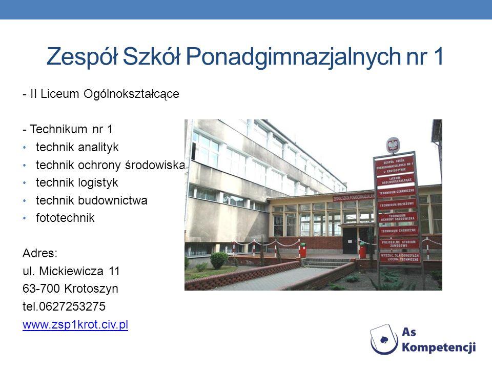 Zespół Szkół Ponadgimnazjalnych nr 2 im.Karola F.
