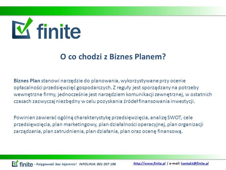 O co chodzi z Biznes Planem? Biznes Plan stanowi narzędzie do planowania, wykorzystywane przy ocenie opłacalności przedsięwzięć gospodarczych. Z reguł