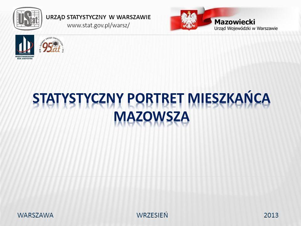 URZĄD STATYSTYCZNY W WARSZAWIE www.stat.gov.pl/warsz/ WARSZAWAWRZESIEŃ2013