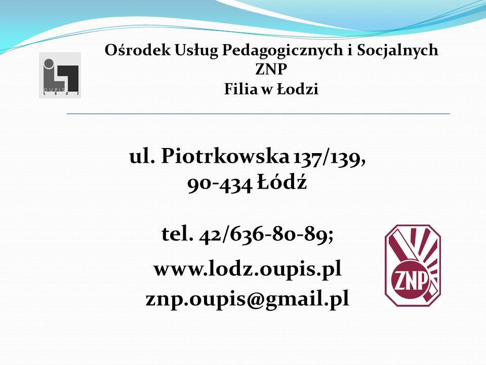 Ośrodek Usług Pedagogicznych i Socjalnych ZNP Filia w Łodzi ul.