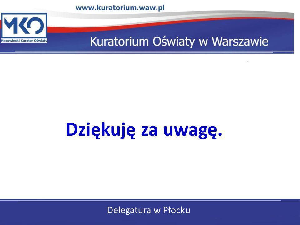 Delegatura w Płocku Dziękuję za uwagę.