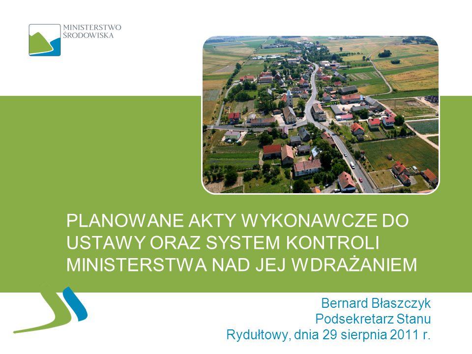 Stan prac nad rozporządzeniami Trwają wstępne prace nad rozporządzeniami 12 Planowany termin przekazania ich do konsultacji: październik b.r.