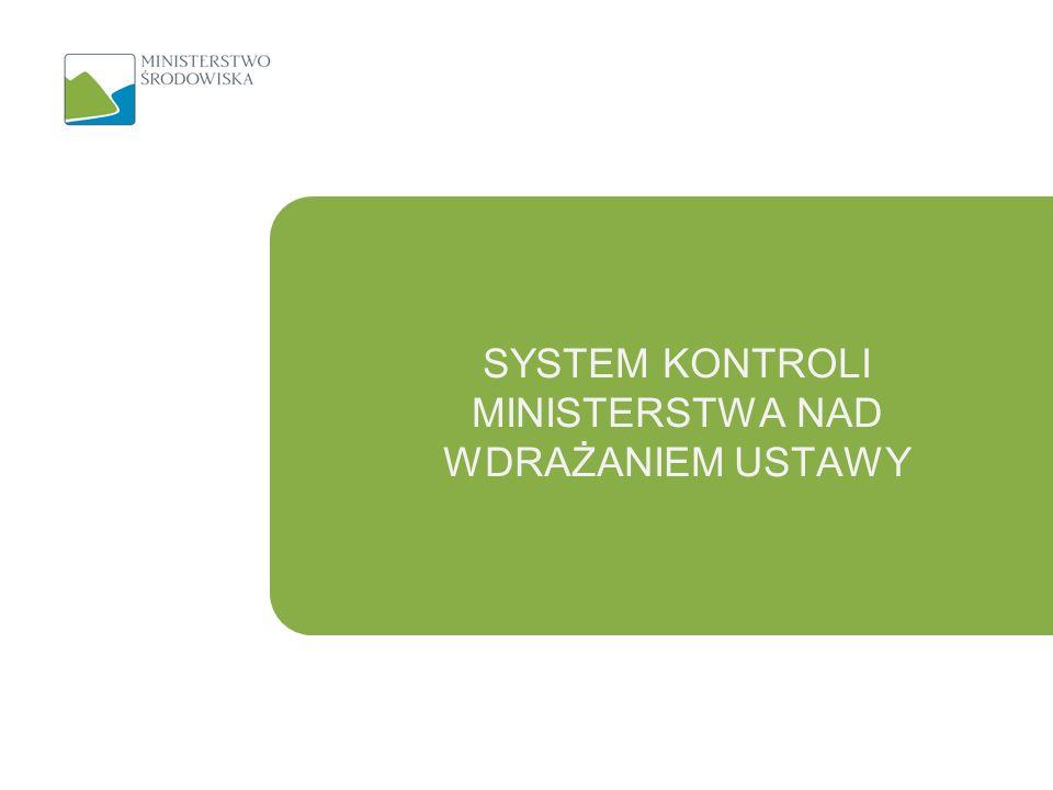 SYSTEM KONTROLI MINISTERSTWA NAD WDRAŻANIEM USTAWY