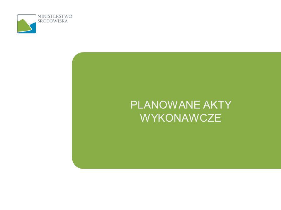 Rozporządzenia 13 Rozporządzenie dotyczące szczegółowego zakresu, sposobu i formy sporządzania wojewódzkiego planu gospodarki odpadami oraz jego aktualizacji Rozporządzenie fakultatywne;
