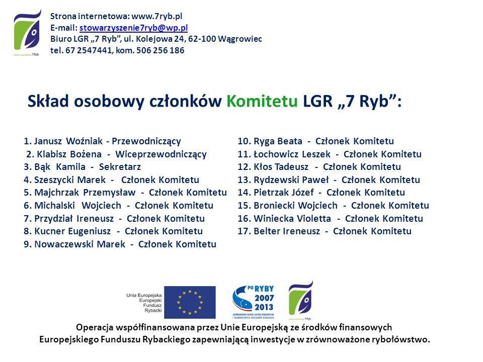 Skład osobowy Komisji Rewizyjnej LGR 7 Ryb: 1.Maria Bratkowska – Przewodnicząca 2.