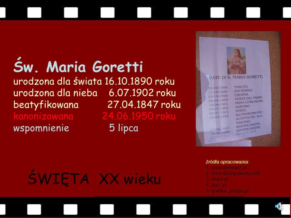 Do grobu św. Marii Goretti w Nettuno śpieszą wierni z całego niemal świata, prosząc Boga przez jej wstawiennictwo o łaski potrzebne każdemu do zbawien
